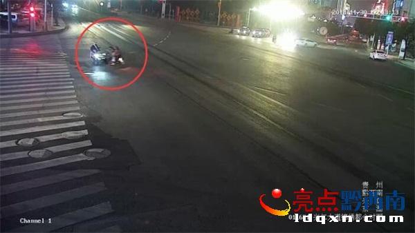 兴仁:男子喝得迷迷糊糊回家 酒后驾车闯红灯酿事故