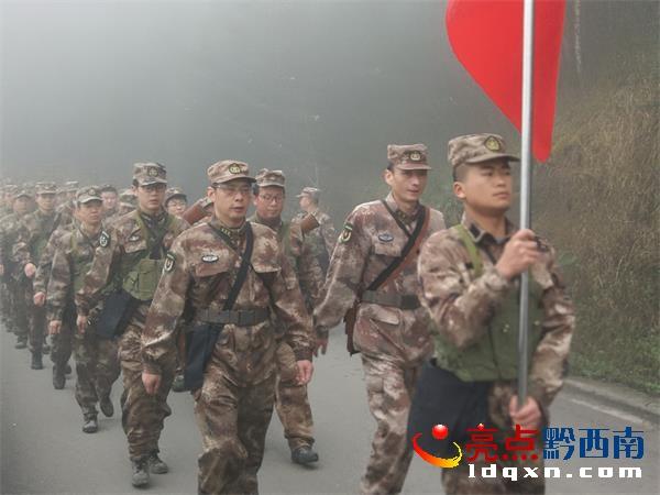 晴隆县人武部举行新年度开训动员暨战备拉动活动