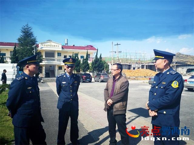 兴义公路管理局到安龙兴仁兴义检查治超工作
