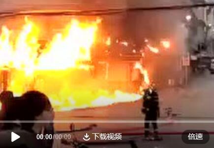 兴义市南环路一家私店失火