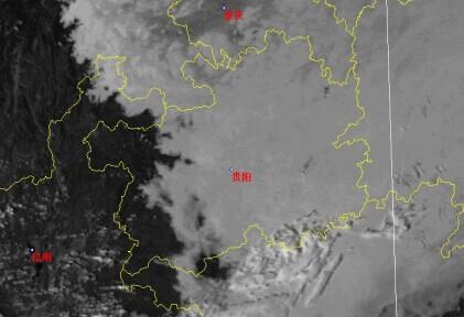 日15时可见光卫星云图.-阴阳一线间 滇黔准静止锋造就奇异天气现象图片