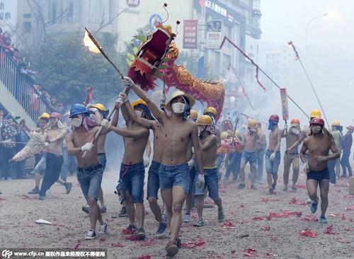 贵州土家人炸龙求福 救