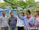 兴仁:红心猕猴桃园授粉忙 周边农户务工增收入